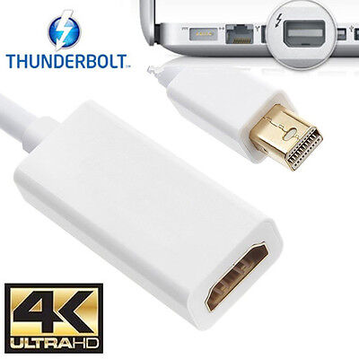 $12.60 • Buy 4K Mini Displayport Thunderbolt To HDMI Adapter Cable 2160p For Macbook Pro Air