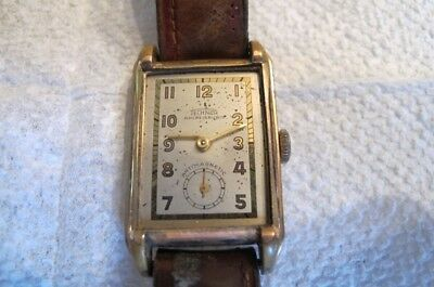 $ CDN42.37 • Buy Vintage TECHNOR Ancre 15 Rubis Antimagnetic Art Deco Mens WATCH