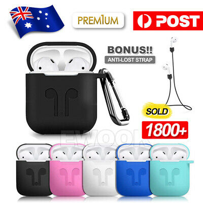 AU5.95 • Buy Shockproof For Apple Airpods Case Cover Skin Anti Lost Strap Holder Airpod Case