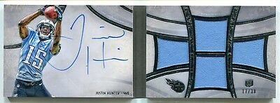 $7.99 • Buy 2013 Topps Five 5 Star Justin Hunter Quad 4 JERSEY RELIC AUTO BOOKLET RC 17/38