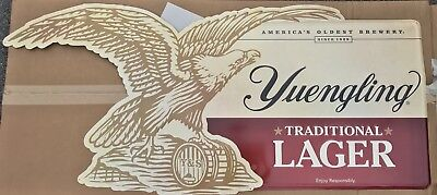 "$129.95 • Buy Yuengling Traditional Lager Eagle Metal Beer Sign 60x27"" - Brand New RARE"