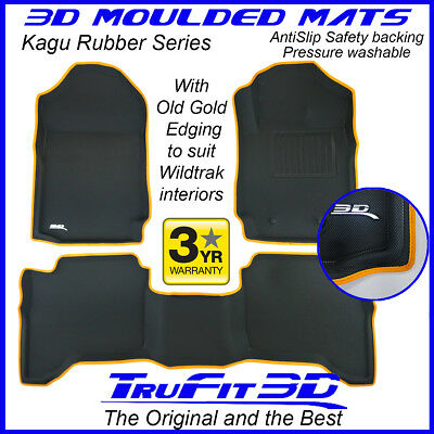 AU189 • Buy Fit Ford Ranger Wildtrak 2011-2020 Genuine 3D Rubber Floor Mats Custom OG Edge