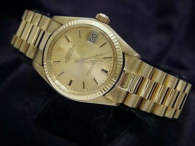 $ CDN12933.94 • Buy Rolex Datejust President 6827 Midsize 18K Yellow Gold Watch Champagne Dial 31mm