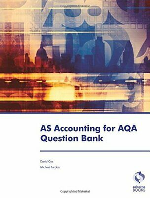 £4.59 • Buy AS Accounting For AQA Question Bank (Accounting & Finance) By Fardon, Michael