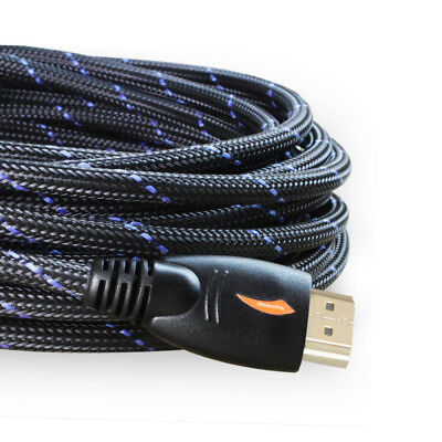 $ CDN20.32 • Buy LONG 25FT HDMI Cable 1080P 4K Ethernet - 26AWG Braided HDMI Cord - Audio Return