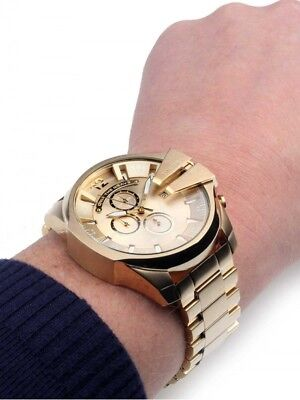 84cb9b7d7d1f New Genuine Diesel Dz4360 Mega Chief Gold Tone Stainless Steel Mens Watch  Uk • 116.42€
