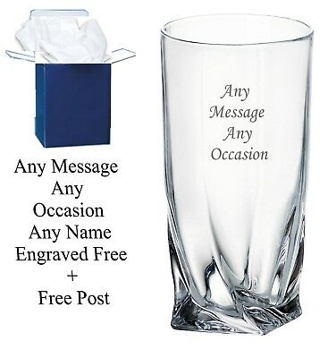 Personalised Engraved Highball Glass Gin Birthday 65th, 70th, 75th, Gift Boxed • 11.99£