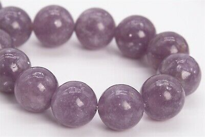 $19.99 • Buy 10MM Genuine Natural Lepidolite Gemstone Beads Grade AAA Round Loose Beads 7