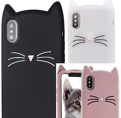 £5.73 • Buy For IPhone XS Max (6.5 ) - Soft Silicone Rubber Skin Case Cover Cat Ear Whiskers