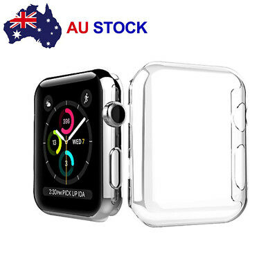 AU4.99 • Buy For Apple Watch Series 1/2/3/4 IWatch Clear TPU Screen Protector Case