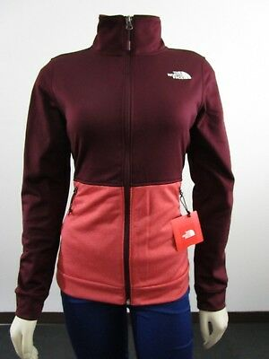 NWT Womens The North Face TNF 100 Cinder Tenacious Full Zip Fleece Jacket  Red • 41.97 040f105a8