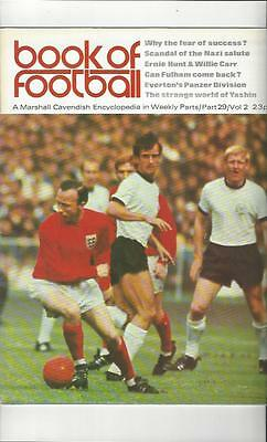 Book Of Football Marshall Cavendish 1972 Part 29 • 4£