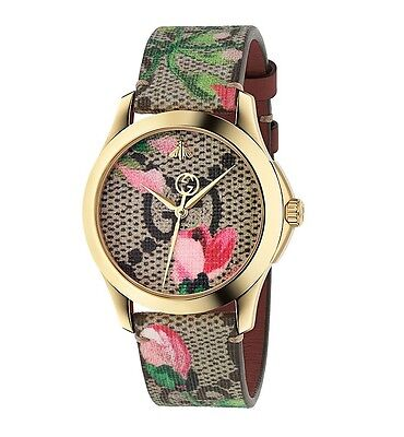 d3abae07587 New Gucci G-Timeless Pink Blossom Leather Strap Women s Watch YA1264038 •  627.99