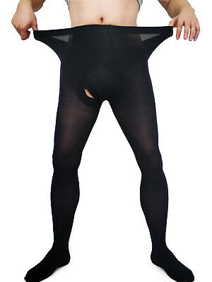 $10.99 • Buy Men Plus Size Velvet Warm Pantyhose Super Elastic Thick Stockings Footed Tights