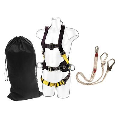 PORTWEST FP64 Comfort Harness With Twin Scaffold Hook Lanyard Kit • 89.99£