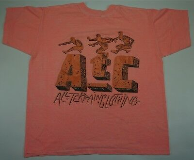 AU20.70 • Buy Rare Vintage All Terrain Clothing ATC Spell Out Graphic T Shirt 90s Pink SZ XL