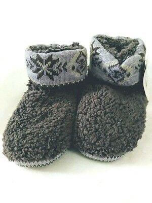 67467eeaf0d0 MUK LUKS Women s Betsey Moonstone Slipper Boots NEW Indoor House Shoes  Small • 22.50