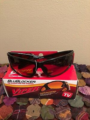 bb468ea7b6 Unisex NIB VIPER Official BluBlocker SunGlasses Complete Surround Vision  Black • 39.99
