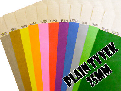 £23 • Buy 1000 (25mm) Plain Paper/Tyvek Wristbands For Festivals, Event, Party, Security