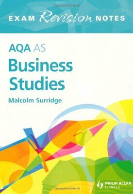 AQA AS Business Studies Exam Revision Notes (A... By Surridge, Malcolm Paperback • 5.99£