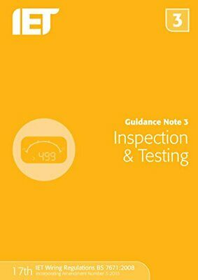 £9.99 • Buy Guidance Note 3: Inspection & Testing (Electrical Regulations) By The IET Book