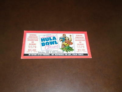 $19.99 • Buy 1974 Hula Bowl College Football Full Ticket Near Mint