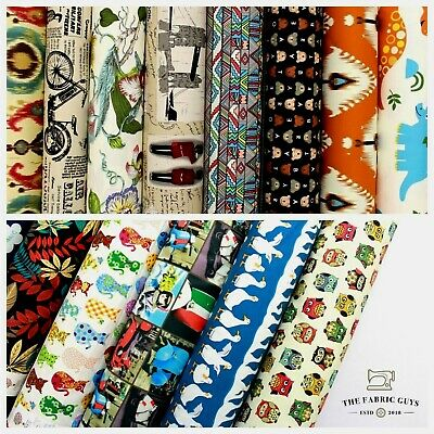 Premium Cotton Upholstery Canvas Fabric, 14 Printed Designs, 60 , High Quality • 8.99£