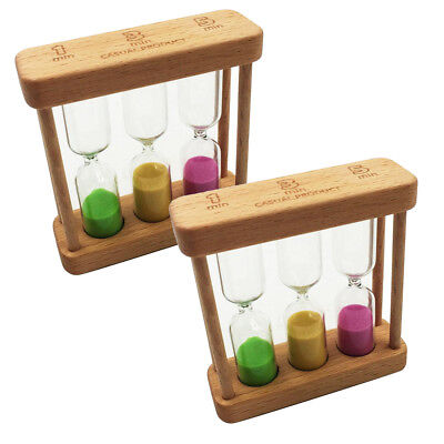 AU15.47 • Buy 2x Sand Timer 1+3+5 Minute Hourglass - Exercise, Cooking, Playing Games,Eggs