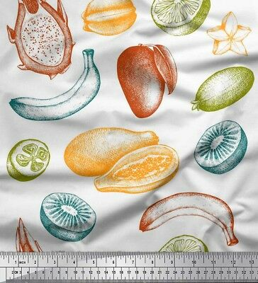 Soimoi Fabric Mix Fruits Fabric Prints By Meter-FT-27H • 7.60£