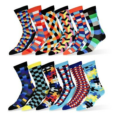 $24.99 • Buy Robert Shweitzer Mens Fun Funky And Colorful Patterned Dress Socks 12-Pack