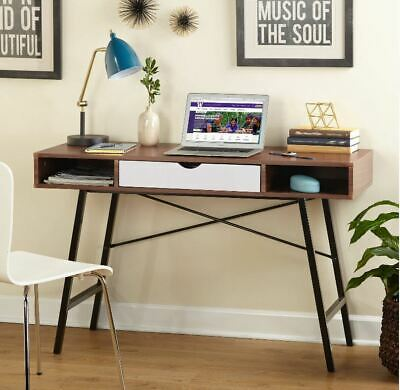 $138.48 • Buy Small Desk Mid Century Modern Mini Writing Console Table Computer Dorm Student