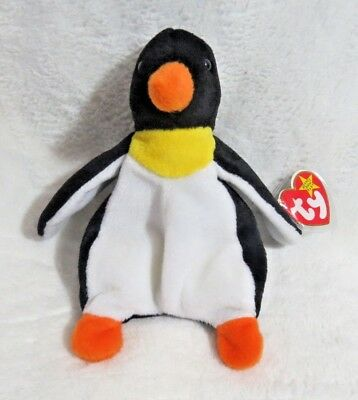 fa583515082 TY Beanie Baby - 1995 Waddle The Penguin 6.5 In - NEW WITH TAGS FREE