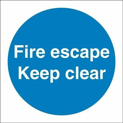Castle Promotions Fire Escape Keep Clear Sign Vinyl 100mm X 100mm - Ss007sa • 5.08£