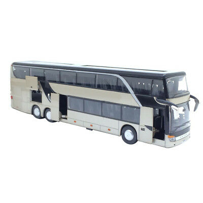 $ CDN34.40 • Buy High Quality Alloy Double Decker Bus Pull Back Model Toy With Sound Light