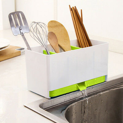 AU9.67 • Buy 1Pc Plastic Racks Organizer Caddy Storage Kitchen Sink Utensils Holders Drainer