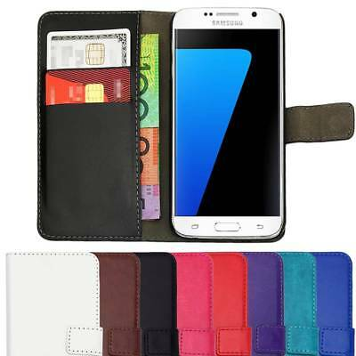AU7.45 • Buy Leather Flip Case Wallet Cover For Samsung Galaxy S9 S8 S7 S6 S5 S4 S3 J1 Plus +