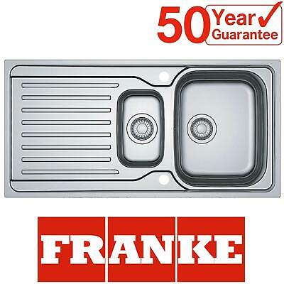 Franke Antea AZN 651 Stainless Steel Reversible 1.5 Bowl Kitchen Sink And Waste • 169.99£