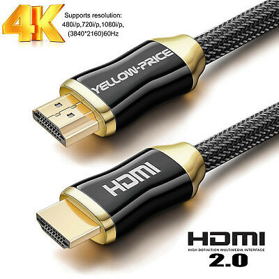 $ CDN27.57 • Buy Pro Gold 25 Ft HDMI Cable * NEW 2.0/2.1 V High-Speed With ETHERNET 4K 3D 18GPS