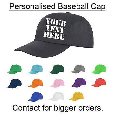 £5.95 • Buy Personalised Printed Or Embroidered Baseball Cap Custom Made Work Stag Birthday