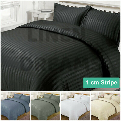 AU39 • Buy Striped 1000TC Luxury Duvet/Doona/Quilt Cover Set Double/Queen//Super King Bed