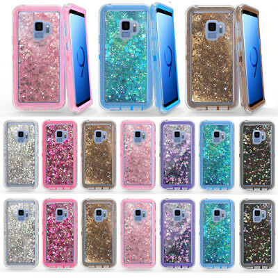 $ CDN11.21 • Buy For Samsung Galaxy S8+ S9+ S9 Note8 Glitter Dynamic Quicksand Liquid Case Cover