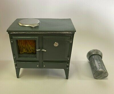 Wood Burning Kitchen Stove For 12th Scale Dolls House 5759 • 9.95£