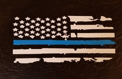 $12.60 • Buy Police Lives Matter. Thin Blue Line Flag.Hold The Line. Vinyl Window/car Decal 4