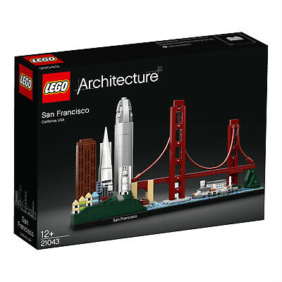 LEGO Architecture 21043 San Francisco Golden Gate Bridge Coit Tower N2/19 • 69.25£