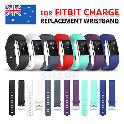 AU4.75 • Buy Replacement Sport Silicone Gel Band Strap Bracelet Wristband For Fitbit Charge 2