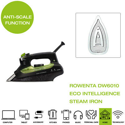 View Details New Rowenta Eco Focus Steam Iron DW6010 - Black And Green • 87.29£
