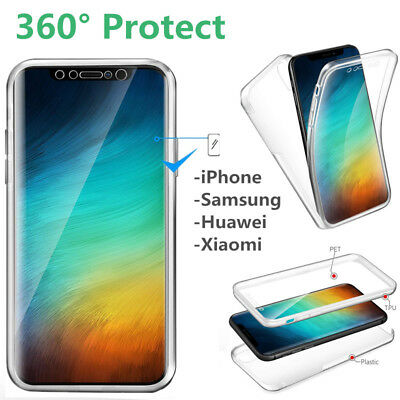 $ CDN4.03 • Buy  For Smart Phone 360° Protect Full Cover Shockproof Silicone Front+PC Back Case
