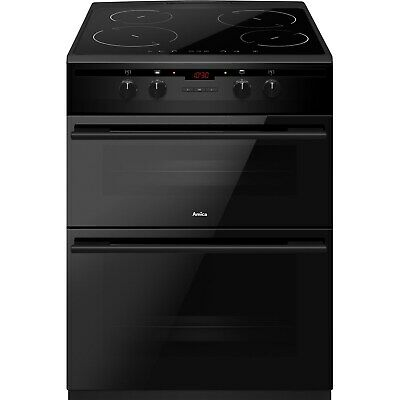 £480.97 • Buy Amica 60cm Double Oven Electric Cooker With Induction Hob - Black