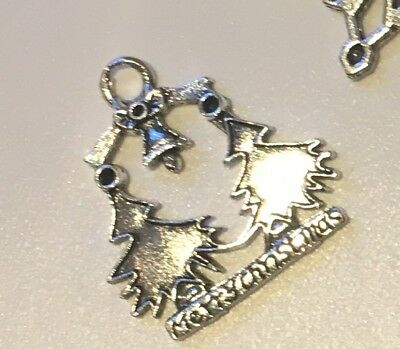 6 Tibetan Silver Charms CHRISTMAS Trees Snowflake Gift Boot Candy Cane Soldier • 1.59£