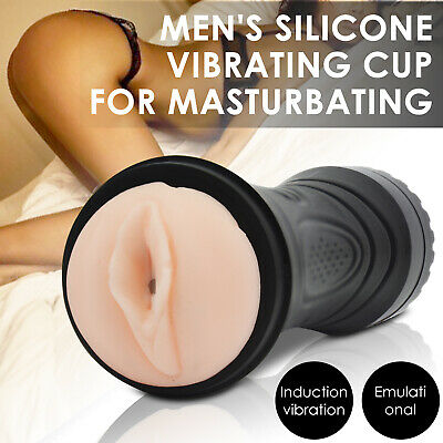 AU19.99 • Buy Vibrating Pocket Pussy Masturbation Cup Silicone Vagina Adult Sex Toys For Men